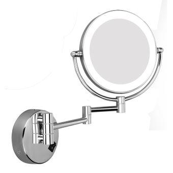 Miroir Grossissant Led X5 Bi Face 8 Pouces Miroir Maquillage Achat Prix Fnac