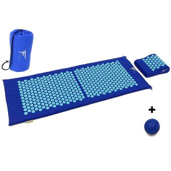kit d acupression xl fitem tapis d acupression coussin boule de massage soulage douleurs dos et cou