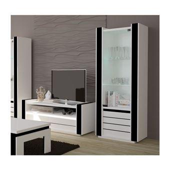 ensemble pour votre salon lina meuble tv hifi vitrine petit modele led meubles design haute brillance