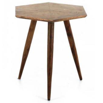 petite table en bois de rose d inde cuivre