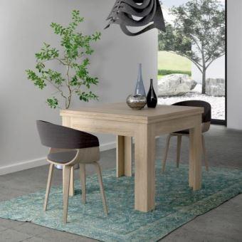finlandek table a manger extensible nuori 6 a 8 personnes style contemporain decor chene clair l 96 190 x l 95 cm