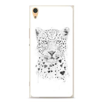 Coque silicone gel Sony Xperia Z6 motif BS Love leopard
