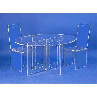 table ovale plexiglas