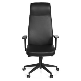 fauteuil de bureau grande taille savona cuir nappa noir hjh office achat prix fnac