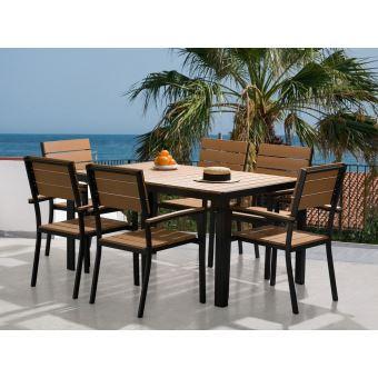 jardin table et chaises aluminium