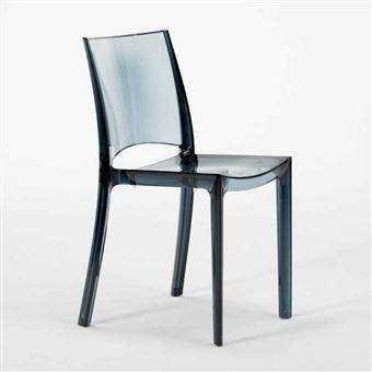16 chaises b side grand soleil pour bar transparentes promo stock couleur noir anthracite transparent