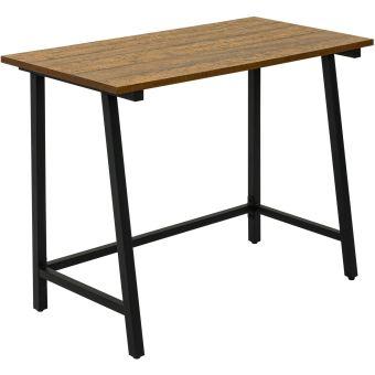 bureau informatique bureau d ordinateur meuble de bureau avec plateau en bois et cadre en acier meerveil