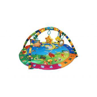 tapis d eveil pour enfants tapis de jeux pour bebe motif animaux dimensions 94 x 81 x 43 cm