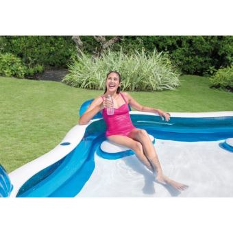 piscine gonflable intex carree familiale avec sieges