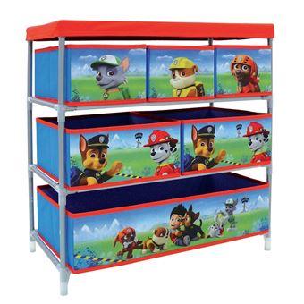 fun house 712537 pat patrouille etagere de rangement avec 6 casiers pour chambre d enfant rangement enfant achat prix fnac