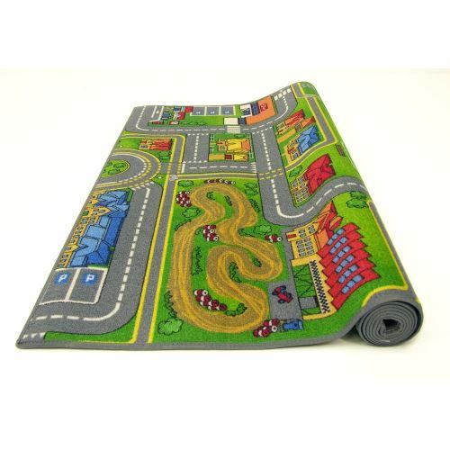 grand tapis de route 140 x 200 cm circuit enfant