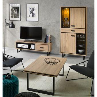 meuble tv 1 vitrine table basse