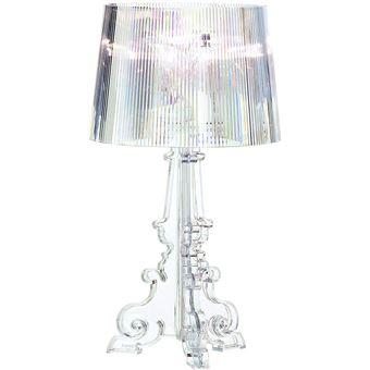kartell bourgie lampe de table cristal avec variateur de lumiere