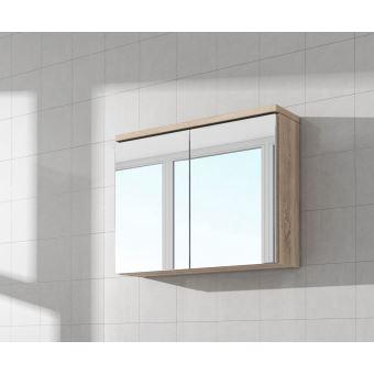 Meuble A Miroir 80x50 Cm Chene Clair Sonoma Miroir Armoire Miroir Salle De Bains Verre Armoire De Rangement Installations Salles De Bain Achat Prix Fnac
