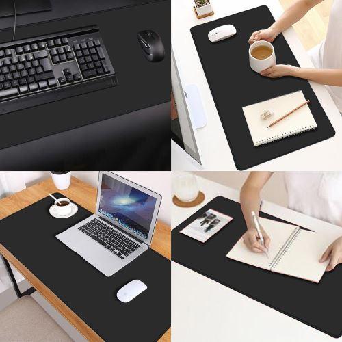 alpexe tapis de souris xxl 900 x 400 mm noir approprie pour souris de bureau et souris de gaming