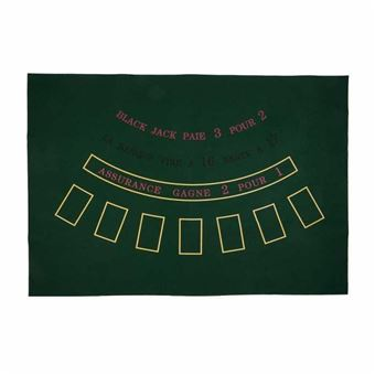 tapis de black jack feutre avec empreintes 130 cm x 90 cm