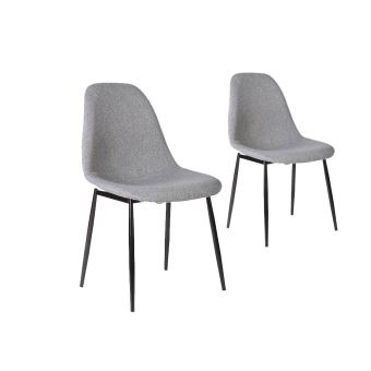 lot de 2 chaises scandinaves eli en