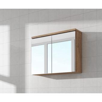 Meuble A Miroir 80x50 Cm Lefkas Miroir Armoire Miroir Salle De Bains Verre Armoire De Rangement Installations Salles De Bain Achat Prix Fnac