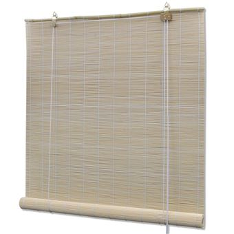 store enrouleur bambou naturel 100 x 160 cm fenetre rideau pare vue volet roulant