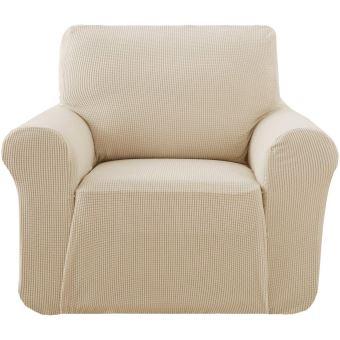 deconovo 1 piece jacquard housse de fauteuil 1 place relax extensible pour enfant beige protege sofa canape revetement de canape
