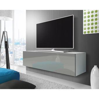 الجانب القطري جليد انتبه على meuble tv blanc suspendu