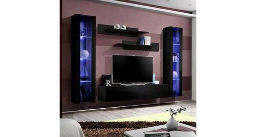 meuble tv mural design fly ii 260cm noir