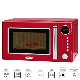 clatronic four a micro ondes avec grill 20 litres mwg 790 couleur rouge