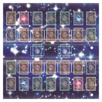 tapis de jeu en caoutchouc 60x60cm galaxy style concours pad playmat pour yu gi oh carte