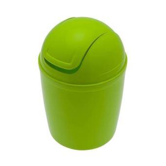 Frandis Mini Poubelle De Salle De Bain En Plastique Vert 156659003 Achat Prix Fnac