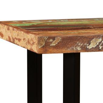 table de bar table bistrot table a manger en bois massif table de salle a manger table haute cuisine style industriel 120 x 60 x 107 cm
