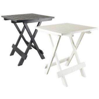 couleur noire table basse d appoint pliante en plastique 50 x 45 x 43cm