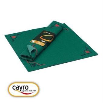 tapis de jeu de cartes en feutre vert 50 x 50 cm
