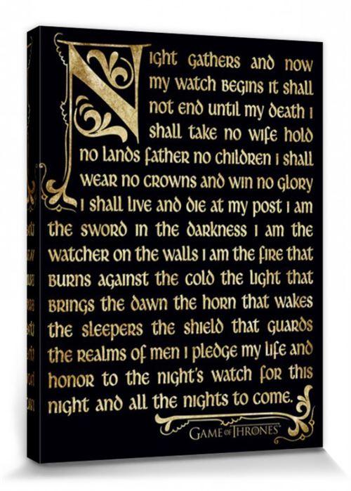 Serment De La Garde De Nuit : serment, garde, Trône, Poster, Reproduction, Toile,, Tendue, Châssis, Serment, Garde, (80x60, Autre, Poster,