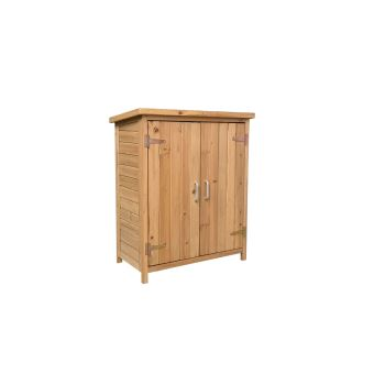 armoire exterieur en bois gardiun abby 75x40x90 cm