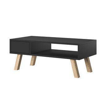 vero bois table basse noire matte