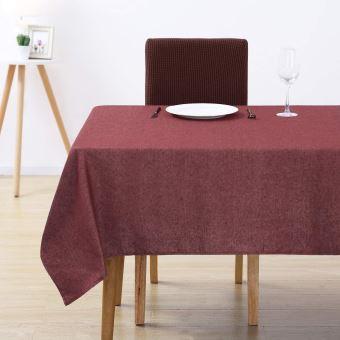 deconovo nappe rouge rectangulaire nappe coton anti tache impermeable nappes de cuisine exterieur tissu table basse 130x160cm