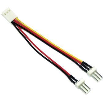 cable adaptateur ventilateur inline 3 pin molex fem a 2x 3 pin prise molex