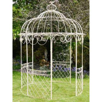 jolie tonnelle kiosque de jardin pergola abris rond gloriette de charme en fer forge 250x250x355cm