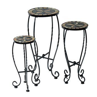 lot de 3 tables gueridon ronds design