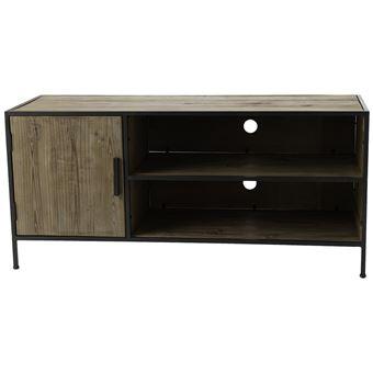 amadeus meuble tv en bois et metal chalet