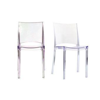 chaises transparentes empilables design