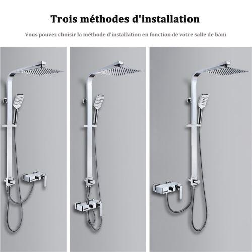 homelody colonne de douche baignoire avec robinet cascade3fonctions ensemble de douche corps tout en laiton douchette a main 3 jets aux choix