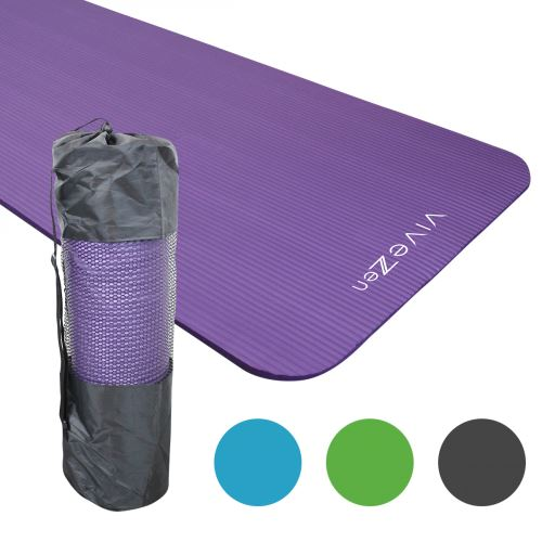 tapis de yoga de gym d exercices 180 x 60 x 1 2 cm sac de transport violet violet