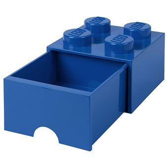 tiroir en brique lego 4 boutons 1 tiroir boite de rangement empilable 4 7 l bleu