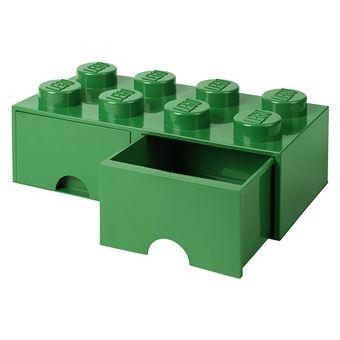 tiroir en brique lego 8 boutons 2 tiroirs boite de rangement empilable 9 4 l