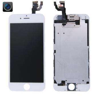 iphone 6 ecran remplacement complet vitre tactile lcd camera avant blanc