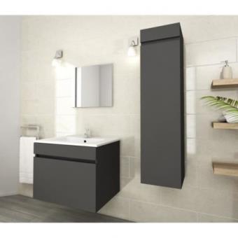 luna colonne de salle de bain l 30 cm gris mat