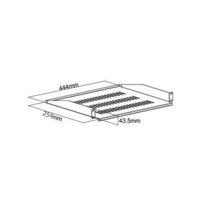 etagere pour rack 19 hauteur 1u profondeur 25 cm