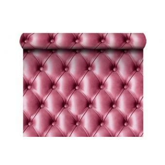 papier peint capitonne rose
