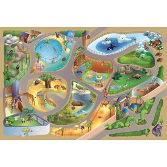 tapis enfant antiderapant jeu circuit connecte zoo tapis enfants par house of kids 100 x 150 cm
